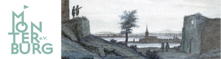 """Kalkar vom Monreberg aus gesehen"", Lambert Doomer, 1663 (Ausschnitt, farblich verändert)"